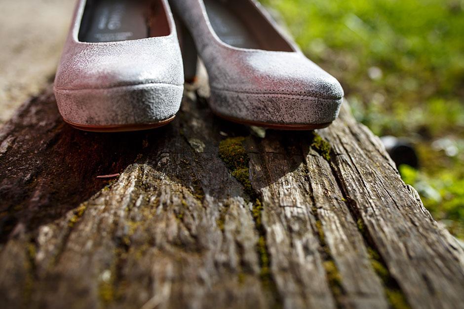 zapatos de la novia reportaje de boda en hondarribia