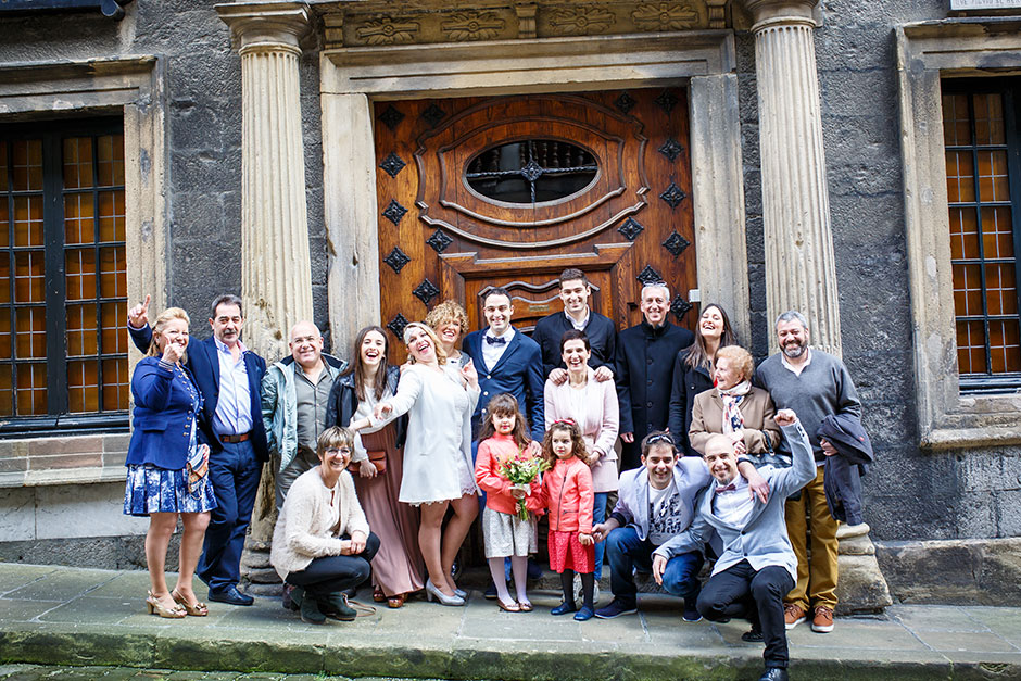 familia de la novia reportaje de boda en hondarribia