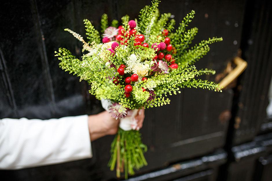 detalle de un ramo fotógrafa de bodas en hondarribia