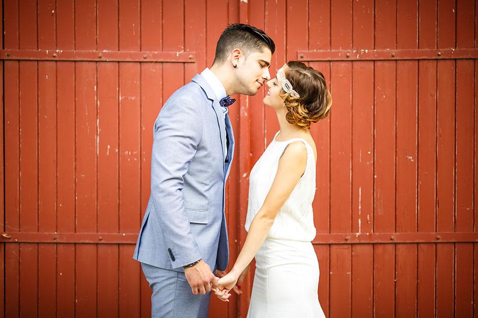 caso beso en fotografo de bodas guipuzcoa