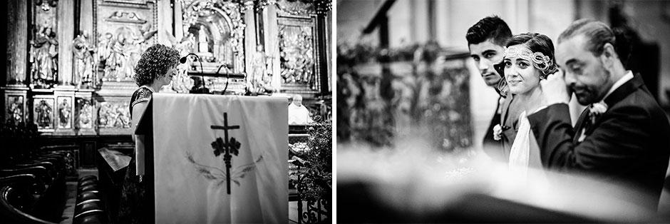 montaje de la iglesia en un reportaje de boda fotografo de bodas en guipuzcoa