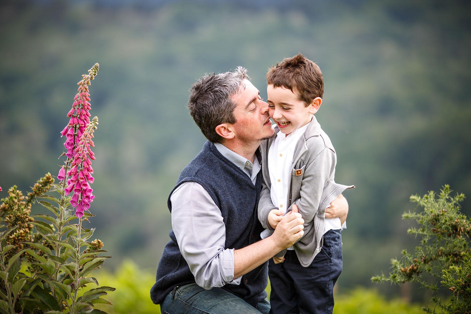 padre e hijo en erlaitz monte fotografos en irun
