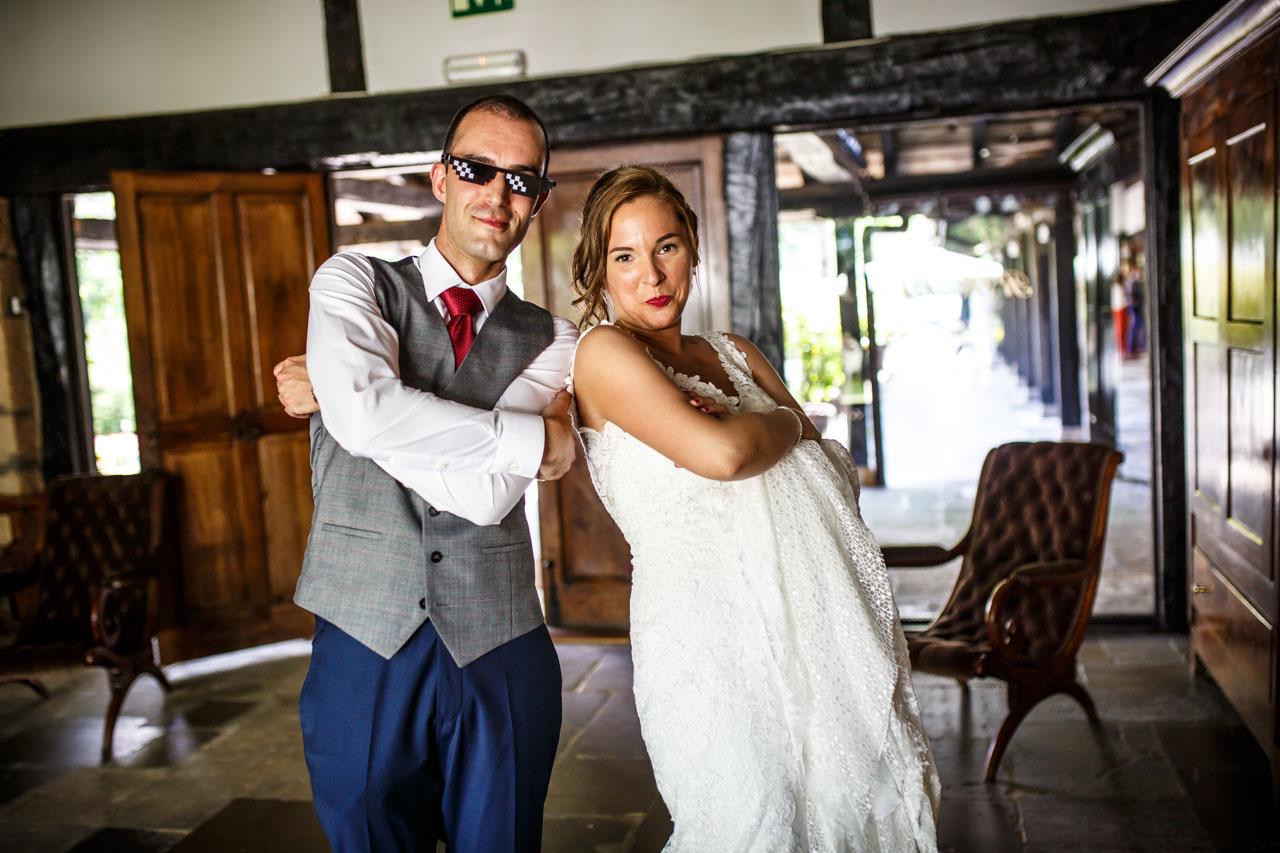 foto de los novios en una boda en guadalupe