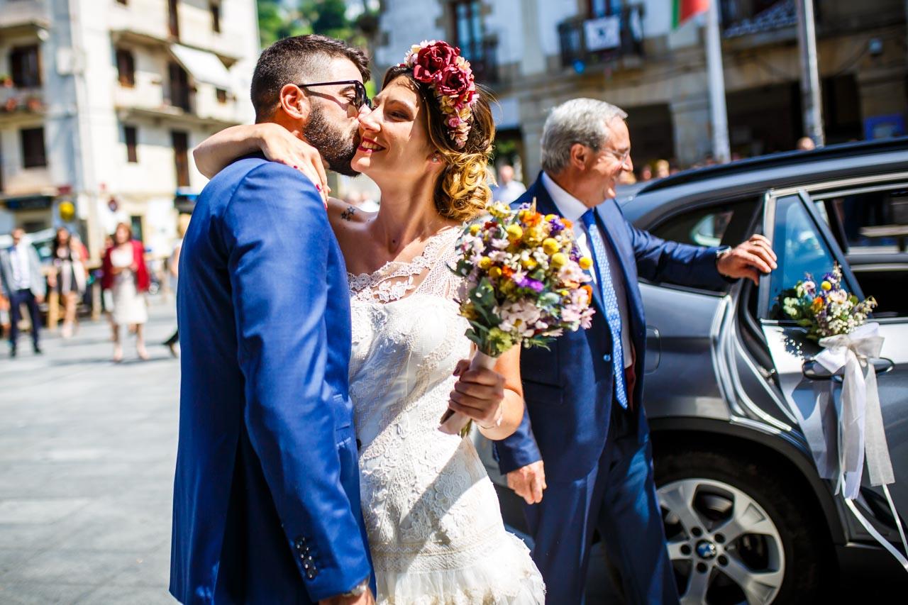 primer encuentro de los novios en una boda en oiartzun