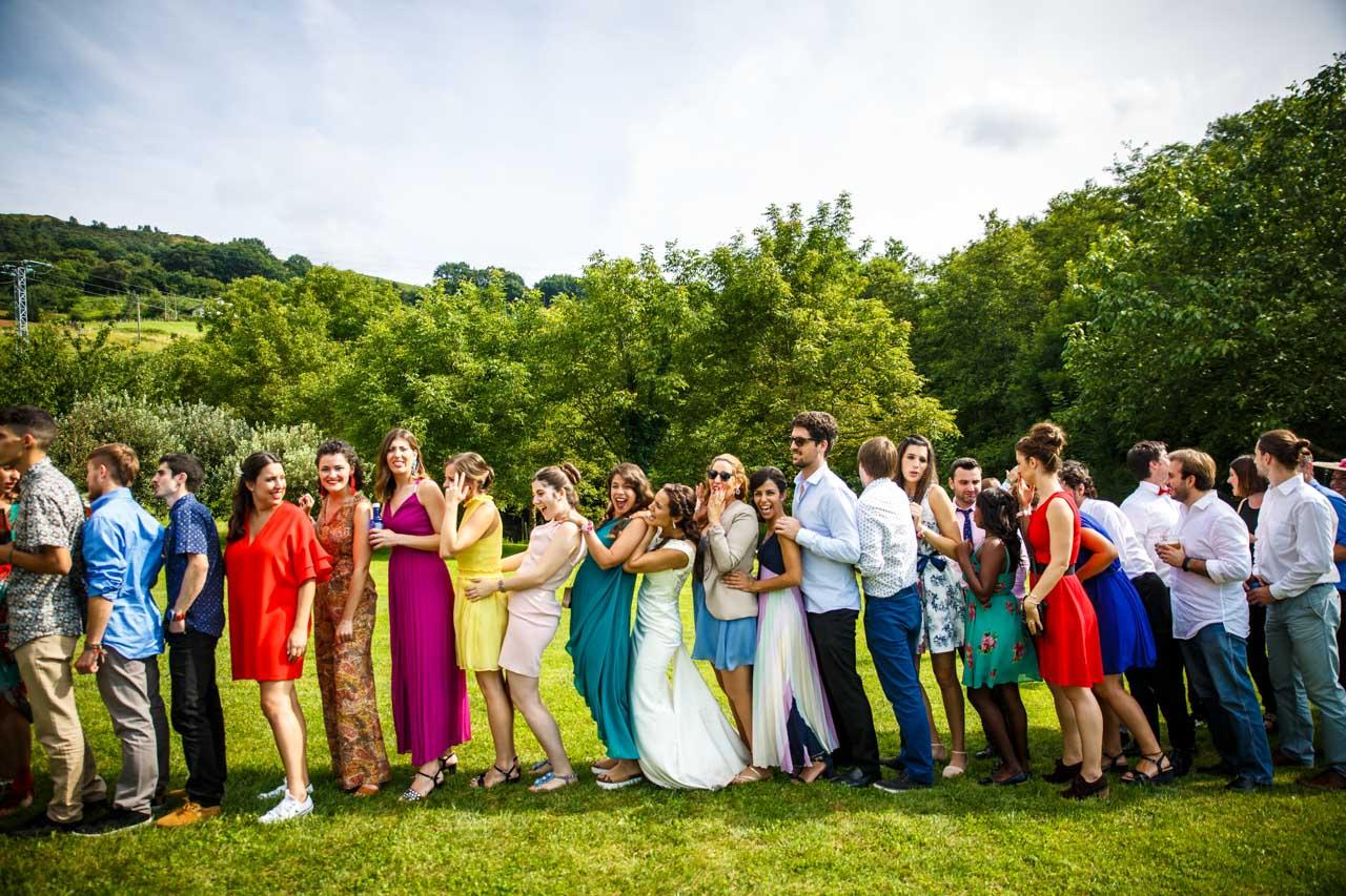 repartición de los equipos en una boda en oiartzun