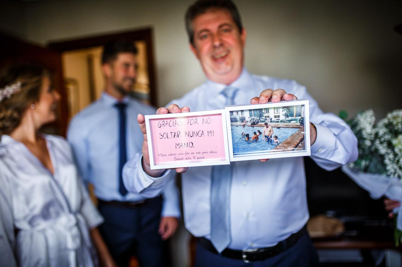 regalo de la novia al padre en una boda en irun