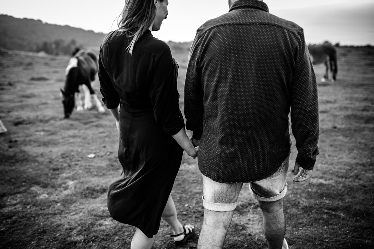 paseando en blanco y negro