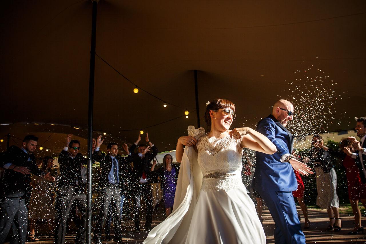 momentos del baile nupcial en una boda en laguardia